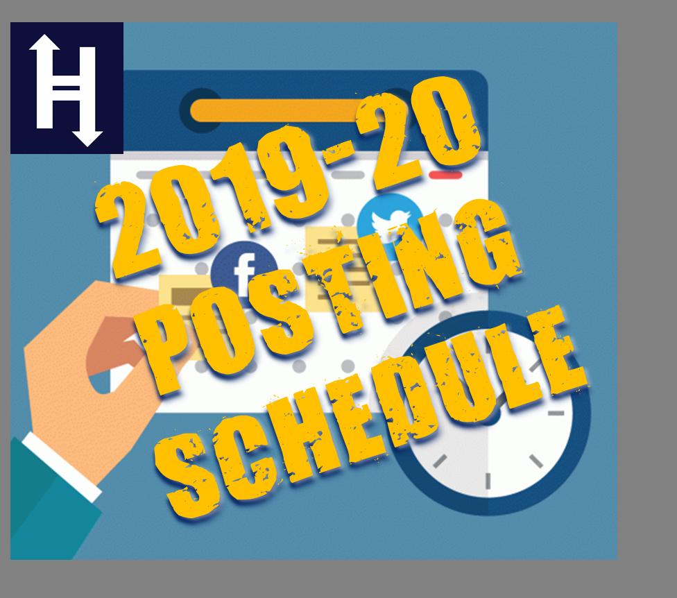 Hierank 2019 Posting Schedule